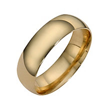9ct yellow gold extra heavy court ring 6mm - Product number 8505187