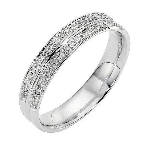 Platinum quarter carat diamond ring 4mm
