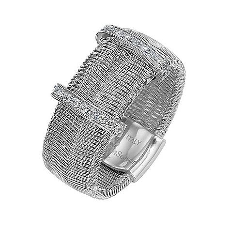 The Fifth Season 18ct white gold diamond set Egiziana ring