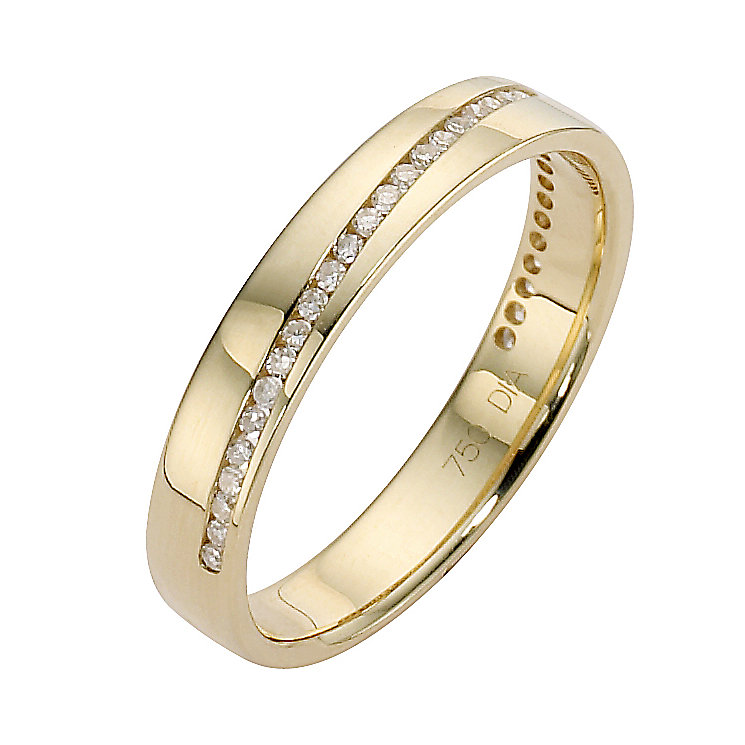 18ct yellow gold & diamond ring - Product number 8505772