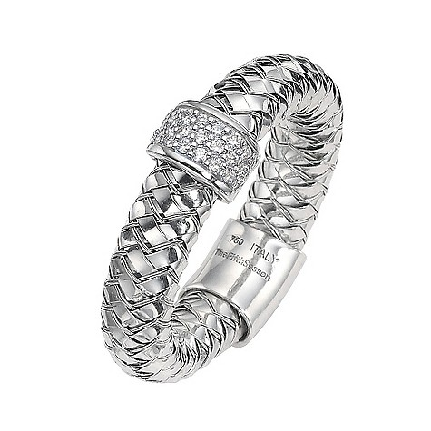 The Fifth Season 18ct white gold diamond set Masai ring