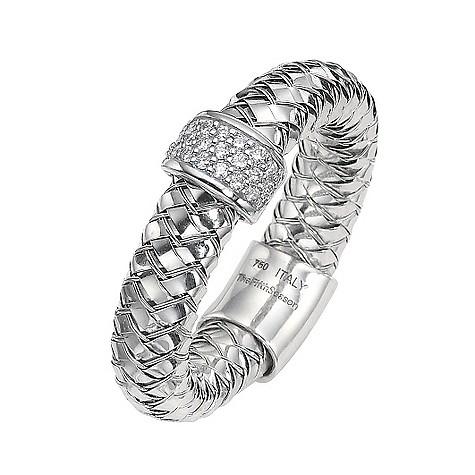 The Fifth Season 18ct white gold diamond set Masai ring