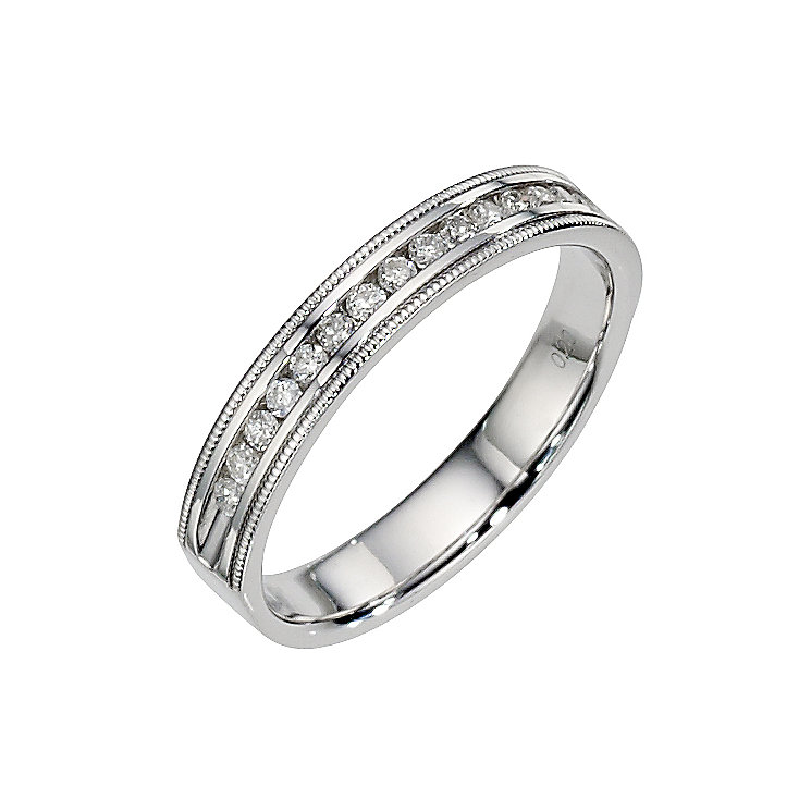 18ct white gold diamond wedding ring - Product number 8506302