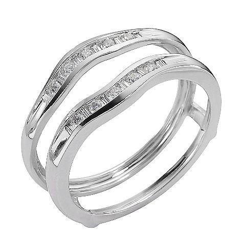 18ct white gold fifth carat diamond enhancer ring