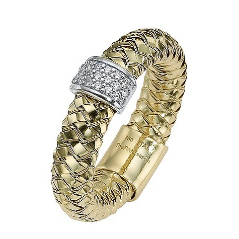 The Fifth Season 18ct gold diamond set Masai ring