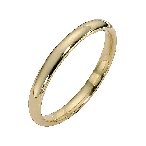18ct yellow gold extra heavy court ring 2mm
