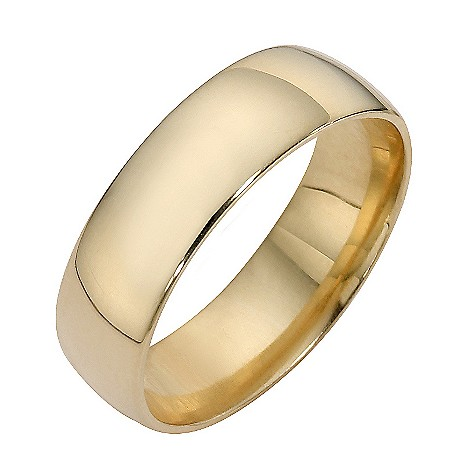 18ct yellow gold extra heavyweight court ring