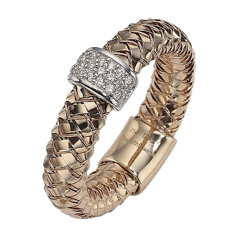 The Fifth Season 18ct rose gold diamond set Masai ring