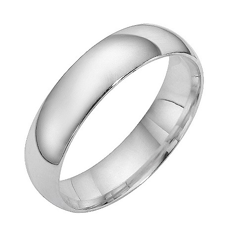 9ct white gold extra heavy weight court ring 5mm