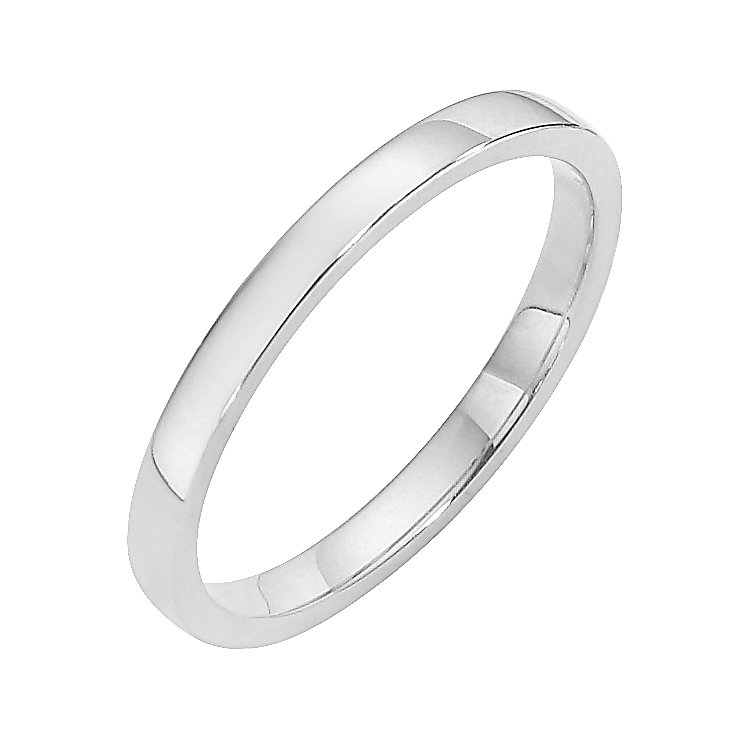 Palladium 950 2mm court wedding ring - Product number 8507996