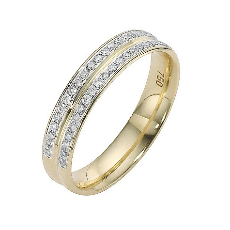 18ct yellow gold quarter carat diamond wedding ring