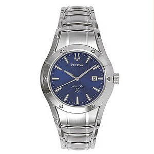Bulova men's Blue Dial Stainless Steel Bracelet Watch - Product number 8509484