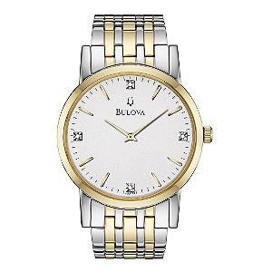 Bulova men's Diamond Round Dial Titanium Bracelet Watch