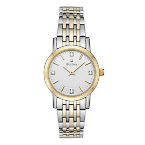 Bulova Ladies' Diamond Dial Stainless Steel Bracelet Watch - Product number 8510091