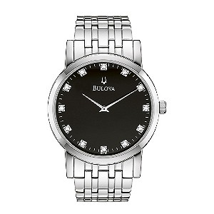Bulova men's Stainless Steel Diamond Bracelet Watch - Product number 8510172