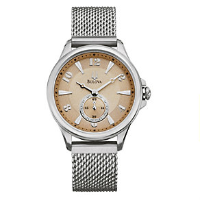 Bulova Ladies' Sepia Dial Stainless Steel Bracelet Watch - Product number 8510180