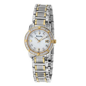 Bulova Diamond Two Tone Stainless Steel Bracelet Watch