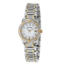 Bulova Diamond Two Tone Stainless Steel Bracelet Watch - Product number 8510318
