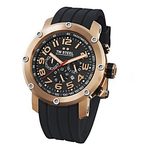 TW Steel Tech men's rose gold chronograph rubber strap watch - Product number 8510520