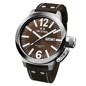 TW Steel CEO Canteen men's brown strap watch - Product number 8510539
