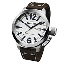 TW Steel CEO Canteen men's brown strap whit dial watch - Product number 8510547