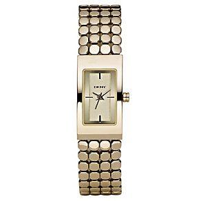 DKNY ladies' gold plated bracelet watch - Product number 8510628