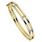 9ct yellow gold and diamond bracelet - Product number 8510962