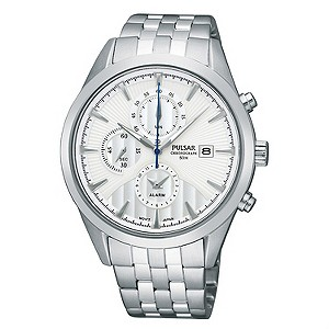 Pulsar Mens Chronograph Stainless Steel Bracelet Watch