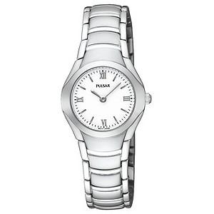 Pulsar Ladies White Dial Stainless Steel Bracelet Watch
