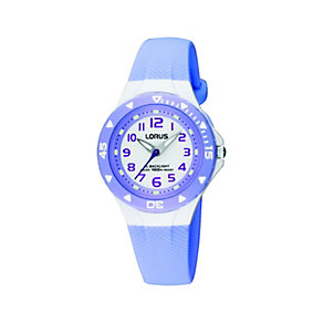 Lorus Child's Lilac Rubber Strap Watch - Product number 8513147