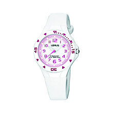 Lorus Child's White Rubber Strap Watch - Product number 8513155