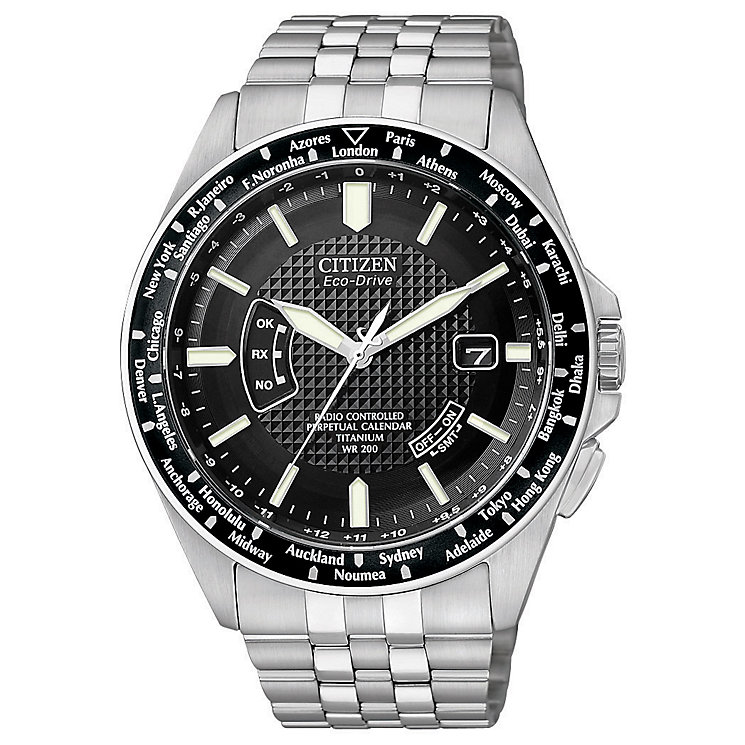 Citizen Eco-Drive men's titanium bracelet watch - Product number 8513686