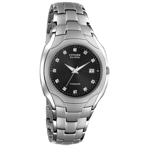 Citizen Eco-Drive men's titanium bracelet watch