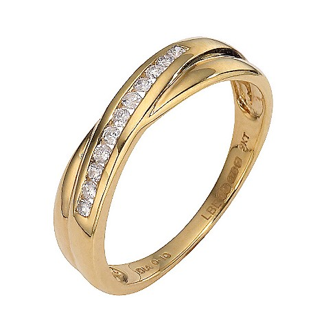 9ct yellow gold diamond setting wedding ring