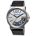 Bench Men's Silver and Blue Dial Black Leather Strap Watch - Product number 8515077