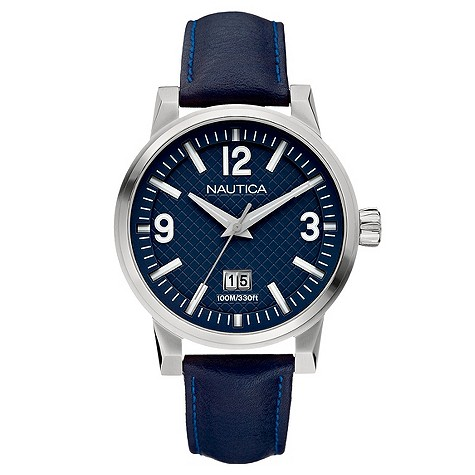 Cashback Nautica NCT Mens Stainless Steel Navy Blue Strap Watch