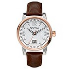 Nautica men's white dial an brown strap watch - Product number 8515182