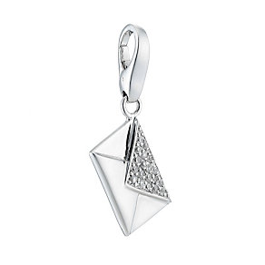 Lucky Charms - sterling silver cubic zirconia envelope charm - Product number 8516715