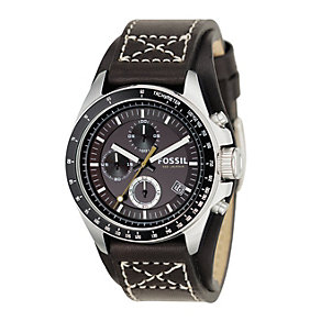 Fossil Decker Men's Chronograph Leather Cuff Watch - Product number 8518041