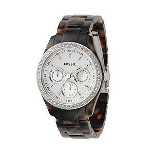 Fossil Stella Ladies' Tortoiseshell Plastic Bracelet Watch - Product number 8518068