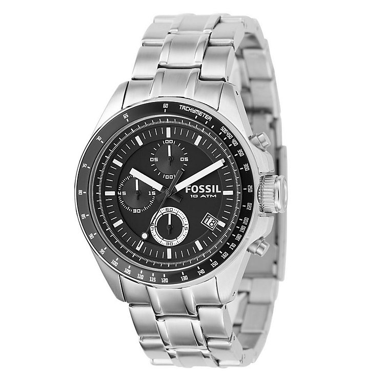 fossil watches men s ladies official fossil h samuel fossil decker men s chronograph bracelet watch product number 8518173