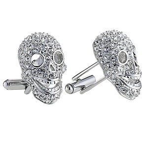 Simon Carter men's crystal encrusted skull cufflinks - Product number 8518289