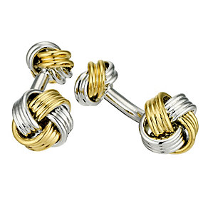 Gaventa two tone knot cufflinks - Product number 8519706