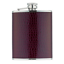 Gaventa brown mock croc leather 6oz hipflask - Product number 8519722