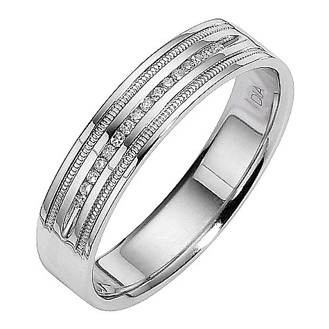 18ct white gold men
