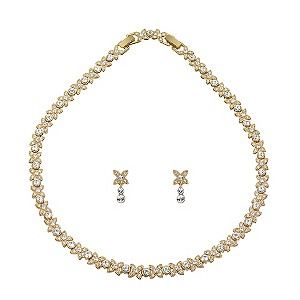 Oliver Weber Gold Plated Stone Set Necklace and Earrings Set