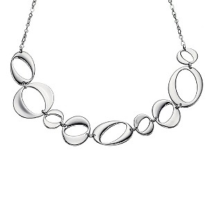 Fossil Oval Design Necklace