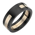 Stainless Steel Black and Pink Ring Medium - U - Product number 8523983