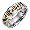 Tungsten and Gold Oval Patterned Ring Large - X1/2 - Product number 8524432
