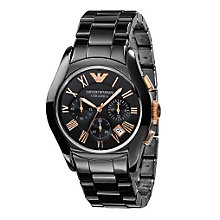 Emporio Armani Men's Black Ceramic Bracelet Watch - Product number 8525285